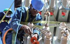 Africa energy workman